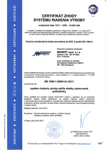 Certifikát 1090