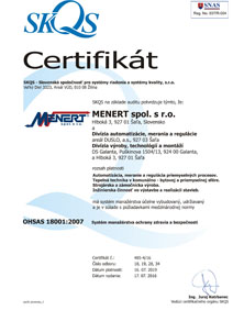 Certifikát 18001